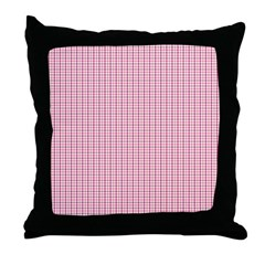 Pink Plaid Tartan Gingham Throw Pillow