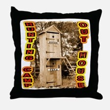 hunters over Peta out house Throw Pillow