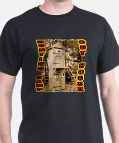 hunters over Peta out house T-Shirt
