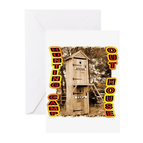 hunters over Peta out house Greeting Cards (Pk of