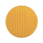 "Orange and Yellow Plaid 3.5"" Button (100 pack)"
