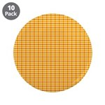 "Orange and Yellow Plaid 3.5"" Button (10 pack)"
