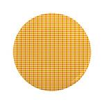 "Orange and Yellow Plaid 3.5"" Button"