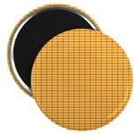 """Orange and Yellow Plaid 2.25"""" Magnet (10 pack)"""