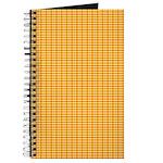 Orange and Yellow Plaid Journal