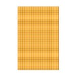 Orange and Yellow Plaid Mini Poster Print