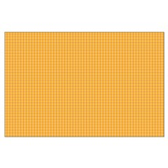 Orange and Yellow Plaid Posters