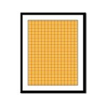 Orange and Yellow Plaid Framed Panel Print