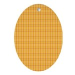 Orange and Yellow Plaid Oval Ornament