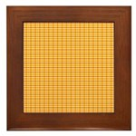 Orange and Yellow Plaid Framed Tile