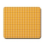 Orange and Yellow Plaid Mousepad