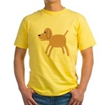 Dog design Yellow T-Shirt