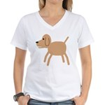 Dog design Women's V-Neck T-Shirt