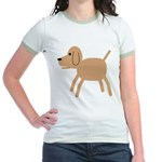 Dog design Jr. Ringer T-Shirt