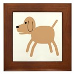 Dog design Framed Tile