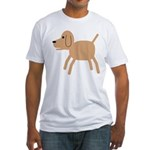 Dog design Fitted T-Shirt