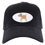 Dog design Black Cap