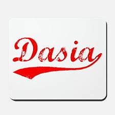 Vintage Dasia (Red) Mousepad