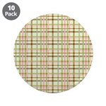 "Brown, Green, and Pink Plaid 3.5"" Button (10 pack)"