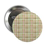 "Brown, Green, and Pink Plaid 2.25"" Button (10 pack"