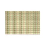 Brown, Green, and Pink Plaid Rectangle Magnet (100