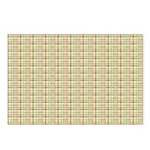 Brown, Green, and Pink Plaid Postcards (Package of