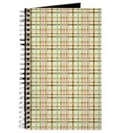 Brown, Green, and Pink Plaid Journal