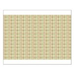 Brown, Green, and Pink Plaid Small Poster