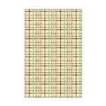 Brown, Green, and Pink Plaid Mini Poster Print