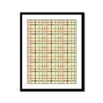 Brown, Green, and Pink Plaid Framed Panel Print