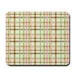 Brown, Green, and Pink Plaid Mousepad