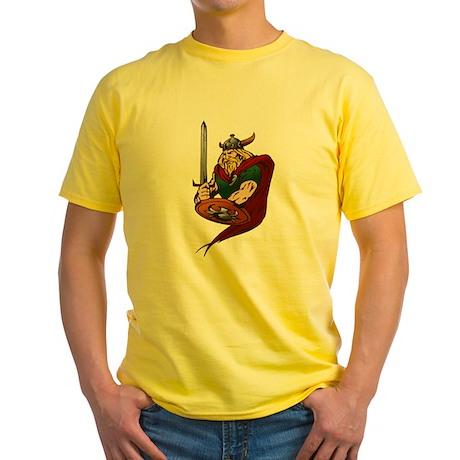 Viking Warrior 3 Yellow T-Shirt