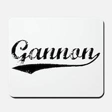 Vintage Gannon (Black) Mousepad