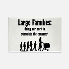 Funny Big family Rectangle Magnet