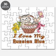 I Love My Russian Blue Designs Puzzle