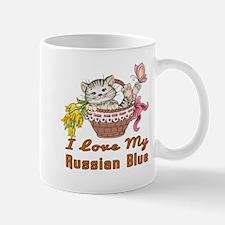 I Love My Russian Blue Designs Mug
