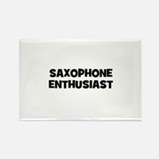 Saxophone enthusiast Rectangle Magnet