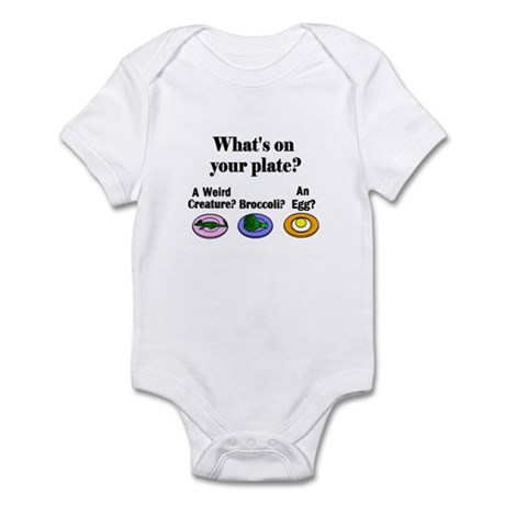 WHAT'S ON YOUR PLATE? Infant Bodysuit