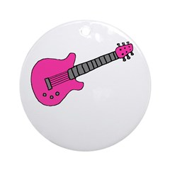PINK GUITAR - Blank Ornament (Round)