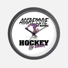Hockey by Choice Wall Clock