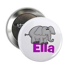"Ella - Elephant 2.25"" Button"