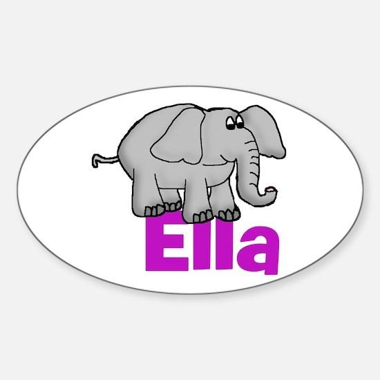 Ella - Elephant Oval Decal