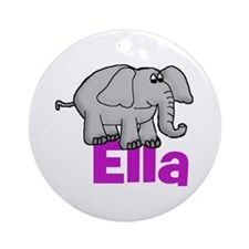 Ella - Elephant Ornament (Round)