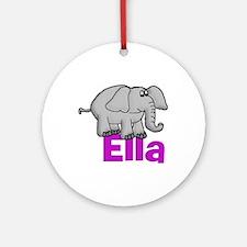 Ella - Elephant Ornament (Round)