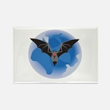 Midnight Bat Rectangle Magnet