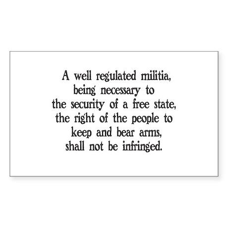 Second Amendment Rectangle Sticker