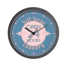 Self Serve Laundry Wall Clock