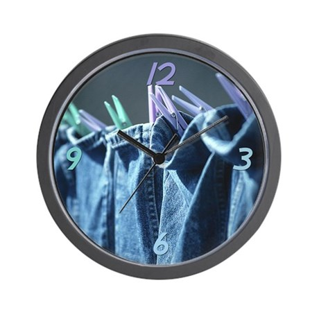 Clean Jeans Wall Clock by pinkinkart