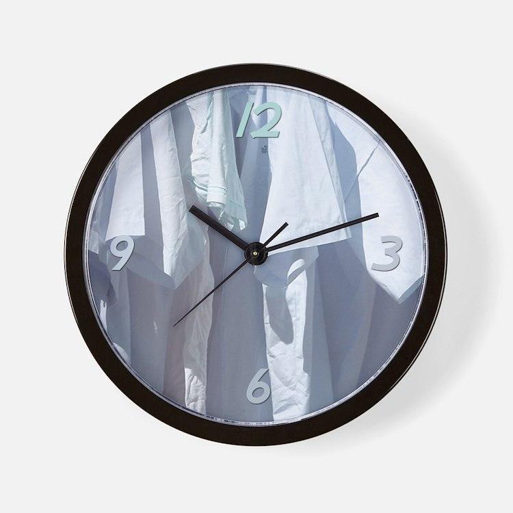 Clean Shirts Wall Clock