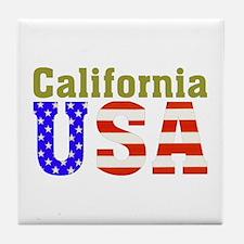 California USA Tile Coaster